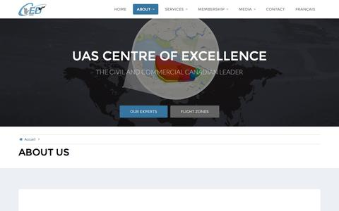 Screenshot of About Page cedalma.com - About us – UAS Centre of Excellence - captured Nov. 1, 2016