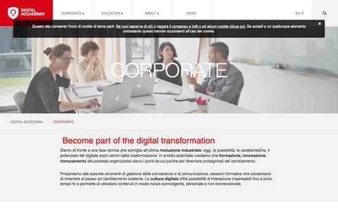 Screenshot of Case Studies Page digitalaccademia.com - Corporate - Digital Accademia - captured Nov. 14, 2015