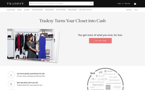 Screenshot of About Page tradesy.com - How It Works | Tradesy - captured Oct. 30, 2014
