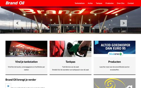 Screenshot of Home Page brandoil.nl - Brand Oil | zelfstandige merk voor tankstations en oliehandel - captured Aug. 3, 2018
