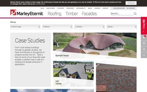 Screenshot of Case Studies Page marleyeternit.co.uk - Marley Eternit Case Studies  | Marley Eternit Portfolio| Marley Eternit - captured Oct. 17, 2017