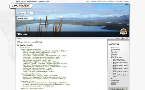 Screenshot of Site Map Page rubyrange.com - Site map | Ruby Range Adventure - captured Oct. 6, 2014