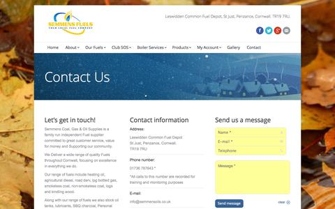 Screenshot of Contact Page semmensoils.co.uk - Contact - captured Oct. 26, 2014