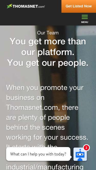Screenshot of Team Page  thomasnet.com - Our Team | ThomasNet
