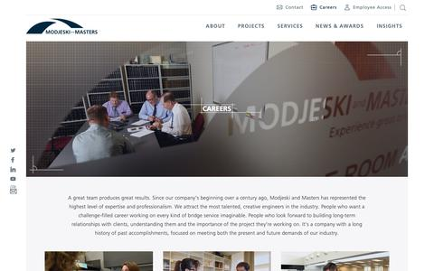 Screenshot of Jobs Page modjeski.com - Modjeski | Careers - captured Nov. 19, 2018