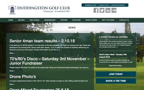 Screenshot of Press Page duddingstongolfclub.co.uk - Duddingston Golf Club - captured Oct. 9, 2018