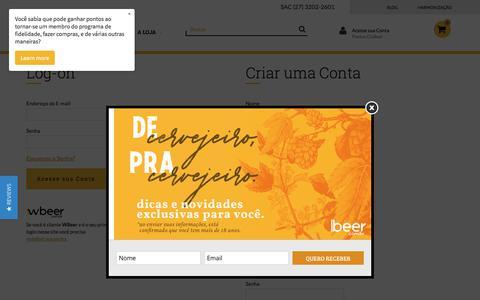 Screenshot of Login Page clubeer.com.br - Login - captured July 17, 2018