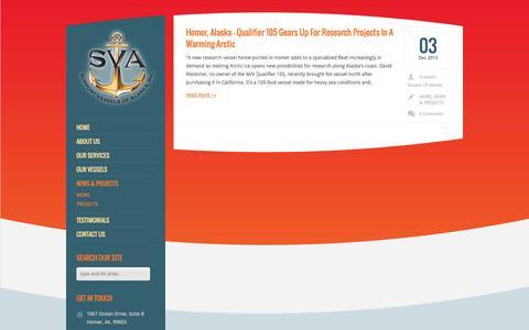 Screenshot of Press Page supportvesselsofalaska.com - News   Support Vessels Of Alaska Inc. - captured Oct. 8, 2014