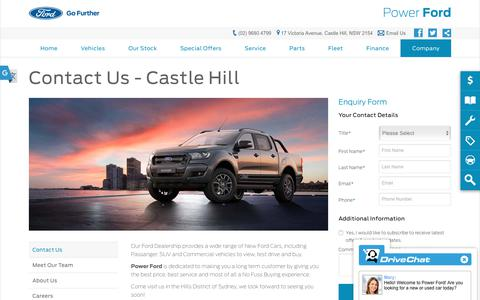 Screenshot of Hours Page powerford.com.au - Contact Us - Power Ford - captured Nov. 5, 2018