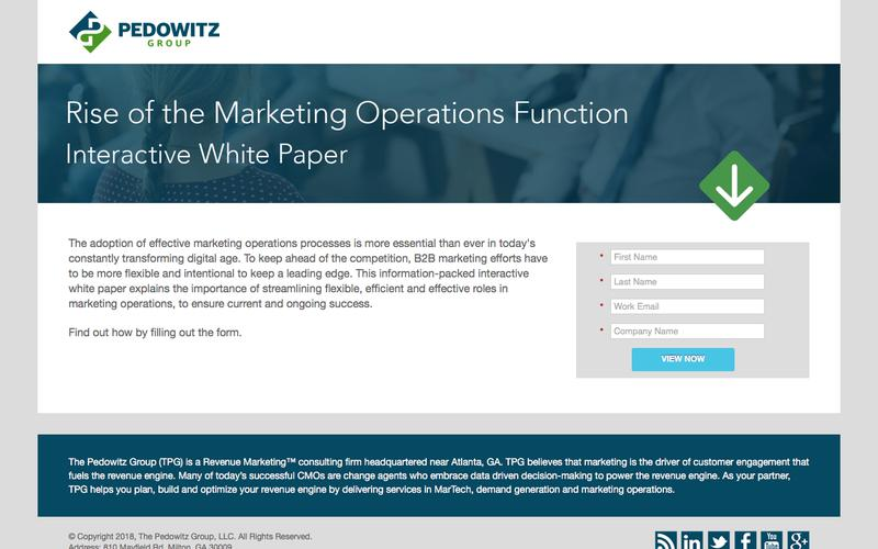 Rise of the Marketing Operations Function - The Pedowitz Group