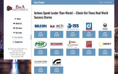 Screenshot of Case Studies Page bna-rep.com - Case Studies – BNA-REP.com - captured Oct. 10, 2017