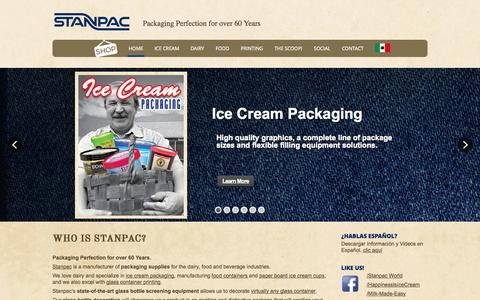 Screenshot of Home Page stanpacnet.com - Stanpac | Packaging Perfection for over 60 Years - captured Sept. 22, 2014