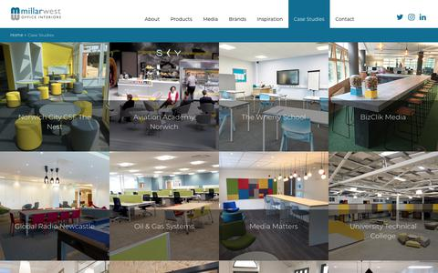Screenshot of Case Studies Page millarwest.co.uk - Case Studies | Millar West - captured Oct. 18, 2018