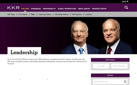 Screenshot of Team Page kkr.com - Leadership | KKR - captured Oct. 29, 2014