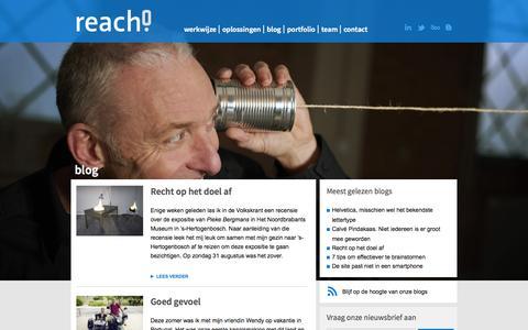 Screenshot of Blog reach-scv.nl - Reach! | Blog - captured Oct. 7, 2014