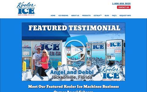 Screenshot of Testimonials Page koolerice.com - Testimonials - Owning Ice Machines   Kooler Ice - captured Nov. 27, 2016