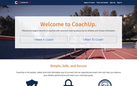 Private and Group Coaching Lessons and Local Sports Training Courses | CoachUp