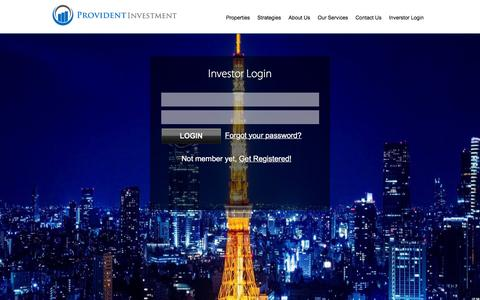 Screenshot of Home Page provident-investment.com - Provident Investment - captured Feb. 1, 2016