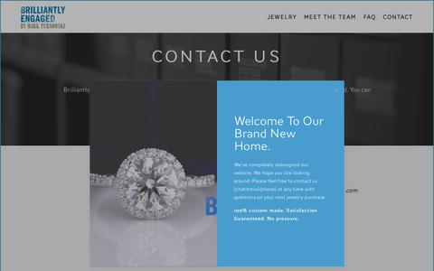 Screenshot of Contact Page brilliantlyengaged.com - Contact — Brilliantly Engaged - captured Oct. 21, 2018