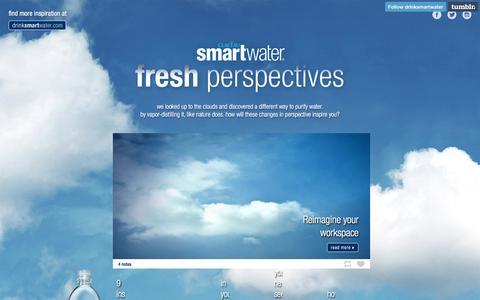 Screenshot of Blog drinksmartwater.com - smartwater presents: fresh perspectives - captured Aug. 23, 2016