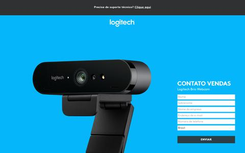 Screenshot of Landing Page logitech.com - Logitech Brio Webcam | Contact Us - captured March 2, 2018