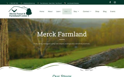 Screenshot of Products Page Maps & Directions Page merckforest.org - Farm - Merck Forest & Farmland Center - captured Oct. 17, 2018