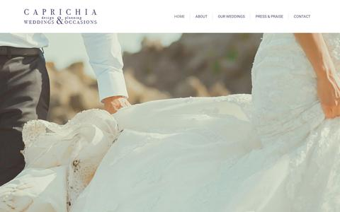 Screenshot of Home Page caprichia.com - Top Wedding Planner Marbella – Caprichia | Full Planning & Styling – Luxury Weddings – Unique Wedding Venues Southern Spain - captured Jan. 24, 2016