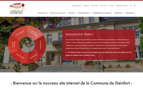 Screenshot of Home Page steinfort.lu - Accueil - Administration Communale de Steinfort - captured April 8, 2017