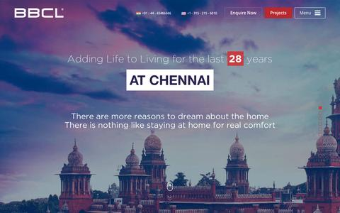 Screenshot of Home Page bbcl.in - BBCL - Luxury Residential Builders in Chennai | Top Builders in Chennai - captured Sept. 10, 2015