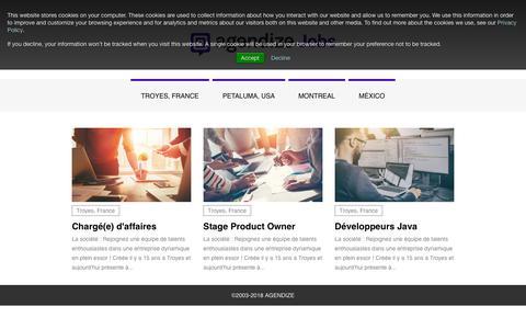 Screenshot of Jobs Page agendize.com - Jobs - Agendize - captured Nov. 17, 2018