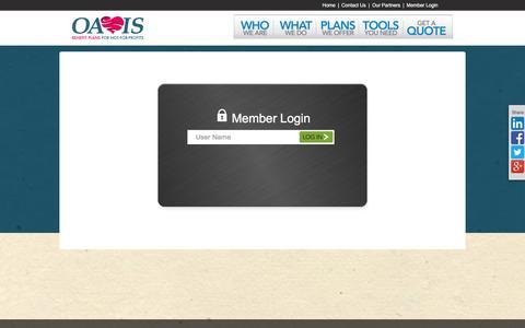 Screenshot of Login Page oassisplan.com - OASSIS Member Login - captured March 2, 2016