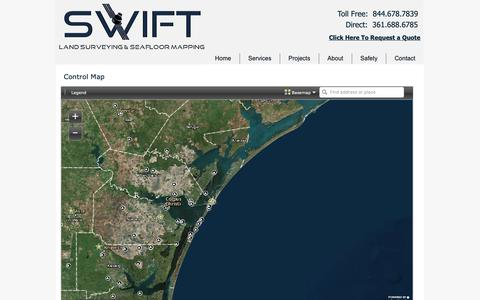Screenshot of Maps & Directions Page swiftsurveying.com - Swift Surveying | Land Surveying & Seafloor Mapping | Maps - captured Oct. 18, 2018