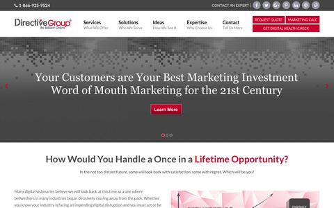 Screenshot of Home Page Terms Page directivegroup.com - Internet Marketing Firm | Digital Marketing Agency | DirectiveGroup - captured March 2, 2018
