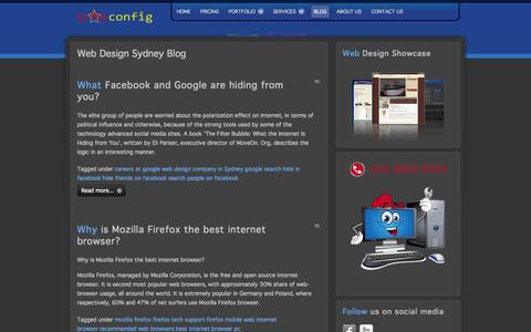 Screenshot of Blog starconfig.com.au - Star Config - Web Design Sydney   Cheap Web Design Sydney – Blog - captured Sept. 30, 2014