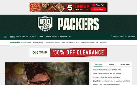 Screenshot of Press Page packers.com - Packers News | Green Bay Packers – packers.com - captured March 21, 2019
