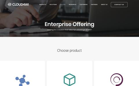 Screenshot of Pricing Page cloud4wi.com - Pricing - Enterprises | Cloud4Wi - captured Oct. 11, 2019