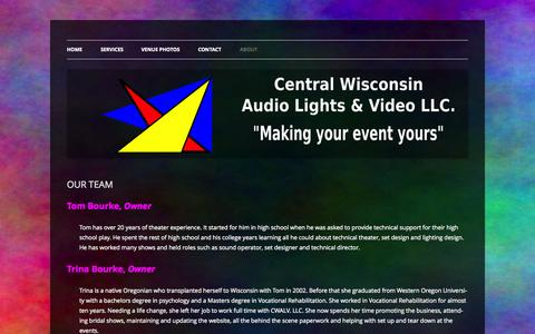 Screenshot of Team Page cwalv.com - OUR TEAM | CENTRAL WISCONSIN AUDIO, LIGHTS, & VIDEO LLC - captured Oct. 2, 2014
