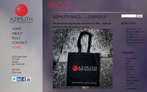 Screenshot of Press Page azimuth.tv - Azimuth Post Production :: Blog - captured Oct. 4, 2014