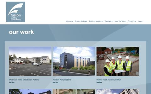 Screenshot of Case Studies Page fusionbc.co.uk - Our Work | Fusion - captured Nov. 3, 2014