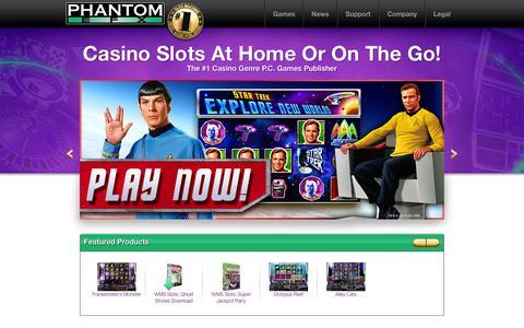 Screenshot of Home Page phantomefx.com - Williams Interactive / Phantom EFX - captured Sept. 29, 2014
