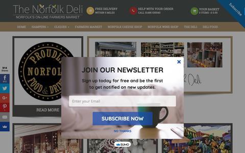 Screenshot of Home Page norfolk-deli.co.uk - Homepage - captured Nov. 9, 2018
