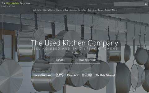 Screenshot of Home Page theusedkitchencompany.com - Ex Display Kitchens, Designer kitchens, Used Kitchen Units | The Used Kitchen Company - captured June 17, 2017