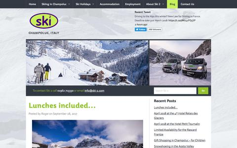 Screenshot of Blog ski-2.com - Blog | Ski 2 Champoluc - captured Oct. 5, 2017