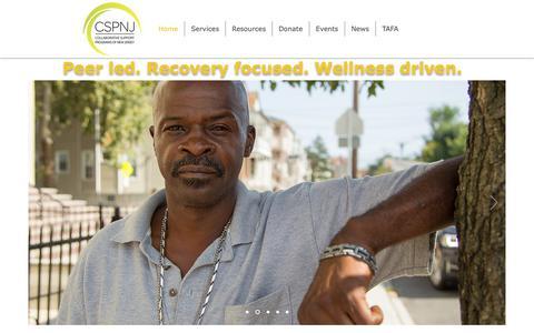 Screenshot of Home Page cspnj.org - CSPNJ Collaborative Support Programs|NJ - captured Dec. 15, 2018