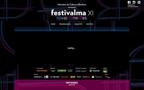Screenshot of Home Page almasurf.com - Festivalma XI - novas conexões - captured Oct. 9, 2015
