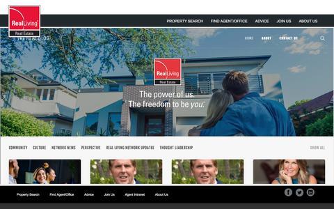 Screenshot of Blog realliving.com - Blog   Real Living Real Estate - captured Jan. 1, 2020