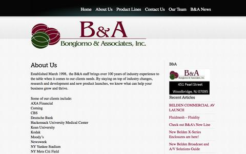 Screenshot of About Page bna-rep.com - About Us «  Bongiorno & Associates, Inc. - captured Oct. 5, 2014