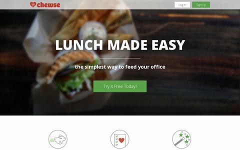 Screenshot of Home Page chewse.com - Chewse - captured July 11, 2014