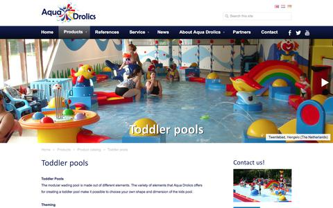 Screenshot of Products Page aquadrolics.com - Aqua Drolics - Toddler pools - captured July 30, 2018