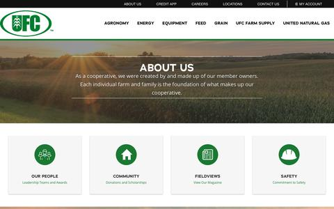 Screenshot of About Page ufcmn.com - About Us - United Farmers Cooperative - captured Nov. 18, 2018
